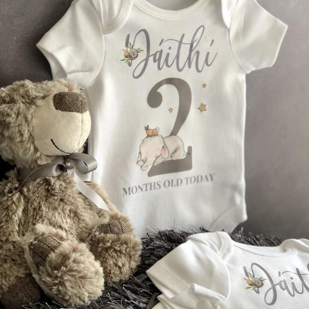 Baby boy milestone vests 3