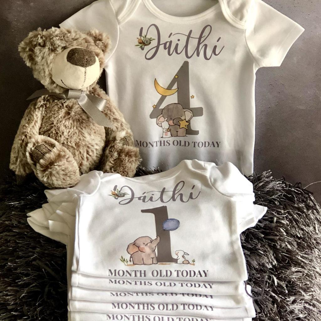 Baby boy milestone vests 4