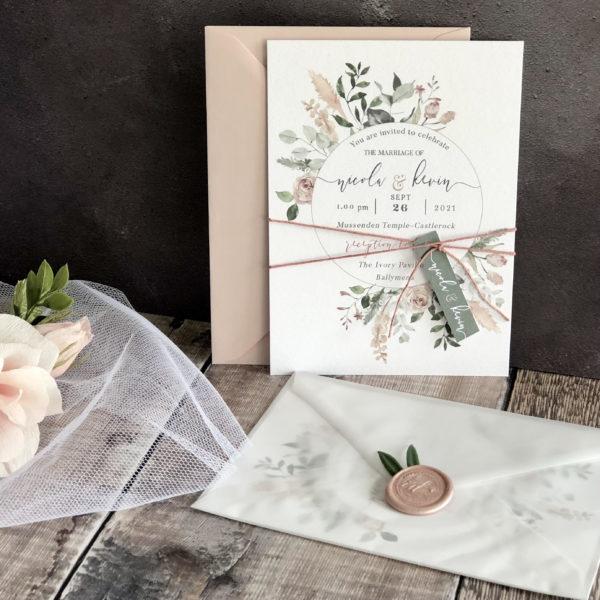 Blushing Rosie Wedding Invitation
